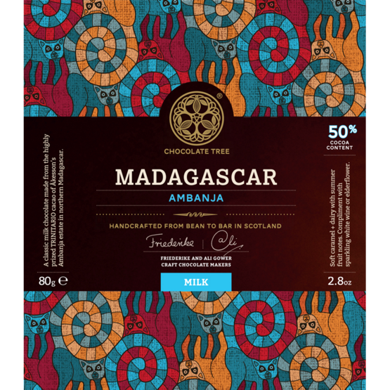 Chocolate Tree Madagascar Ambanja Milk 50% - Laatusuklaa - 920603 - 1