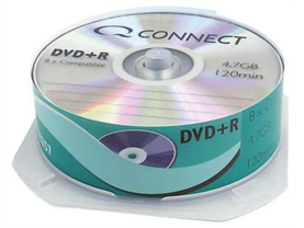 DVD+R Q-Connect 4.7GB spindle/25kpl - Muistitikut, CD, DVD, Blu-ray - 393624 - 1