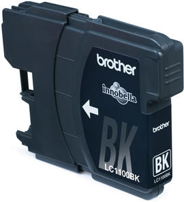 Brother Ink Cart/black DCP385C/MFC6890 350s - Mustesuihkupatruunat - LC1100BK - 1