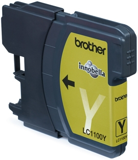 Brother Ink Cart/yellow DCP385C/MFC6890 - Mustesuihkupatruunat - LC1100Y - 1